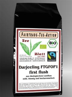 Bio-Darjeeling FTGFOP 1 ff Fairtrade aus ökologischem Landbau